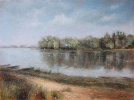 Fine Art - Down the River 2 - Original Oil Painting on Canvas by artist Darko Topalski