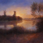 River Sunset – Landscape Oil painting