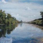 Down by the River – Landscape Oil painting