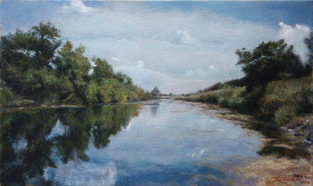 Fine Art - Down by the River - Original Oil Painting on Canvas by artist Darko Topalski
