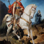 Saint George and the Dragon – Religious Oil Painting