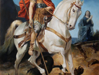Saint George and the Dragon –  Oil Painting