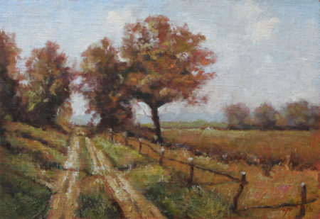 Fine Art -Country Road - Original Oil Painting on Canvas by artist Darko Topalski