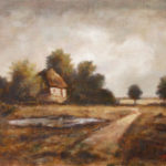 At the end of the road – Landscape Oil painting