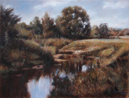 Fine Art - By the Pond - Original Oil Painting on Canvas by artist Darko Topalski