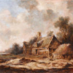 Old Country house – Landscape Oil painting