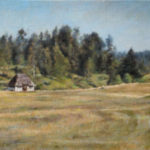 Old Mountain Cabin – Landscape Oil painting