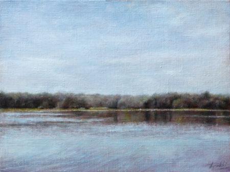 Fine Art - River - Original Oil Painting on Canvas by artist Darko Topalski