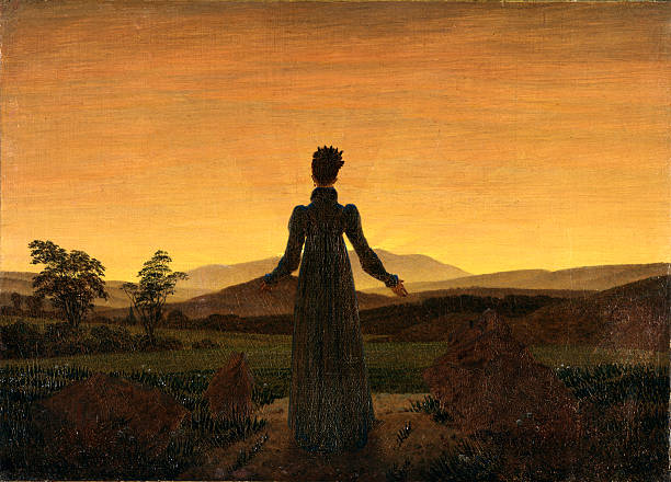 A Woman at Sunset or Sunrise by Caspar David Friedrich