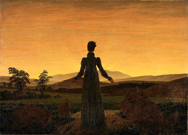 A Woman at Sunset or Sunrise by Caspar David Friedrich