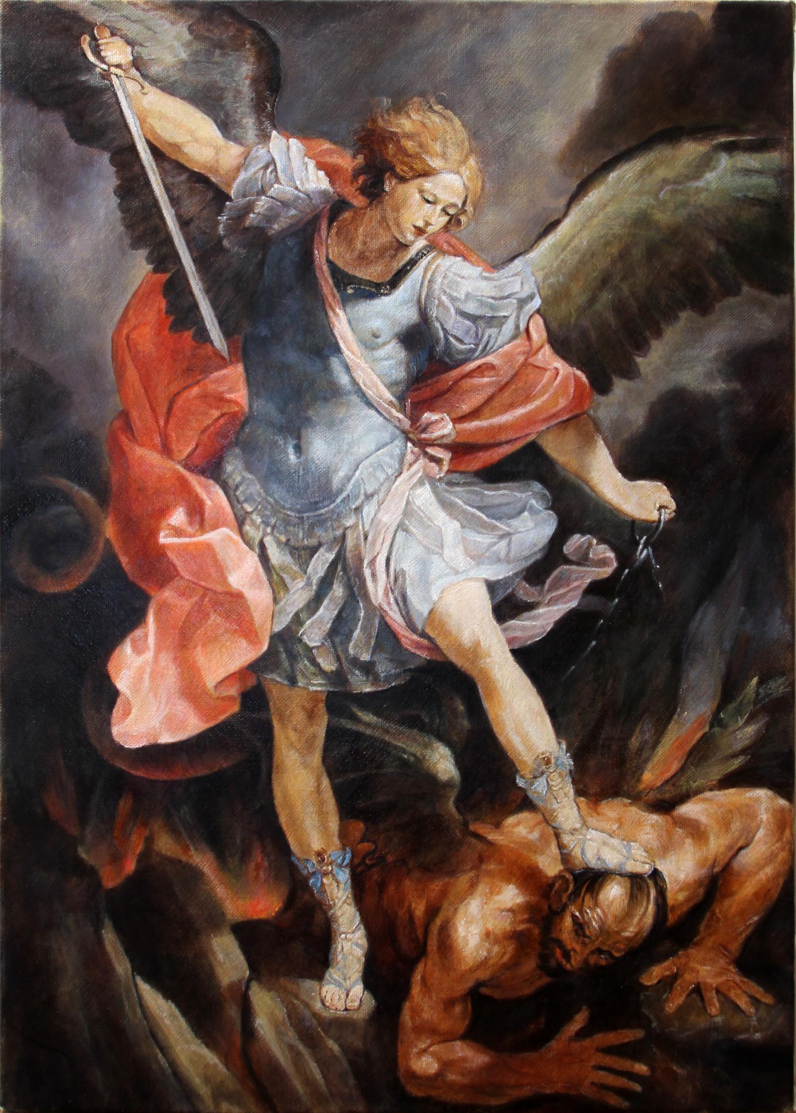 Archangel Michael 2018 – Figurative Religious Oil Painting ...