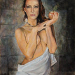 An apple – Figurative Oil painting