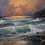 By the Coast – Seascape Oil Painting