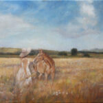 In the field – Figurative Landscape Oil painting