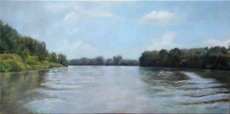 Fine Art - On the River - Original Oil Painting on Canvas by artist Darko Topalski