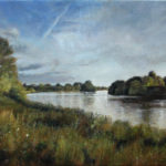Fine Art - River Thames - Original Commissioned Oil Painting on Canvas by artist Darko Topalski