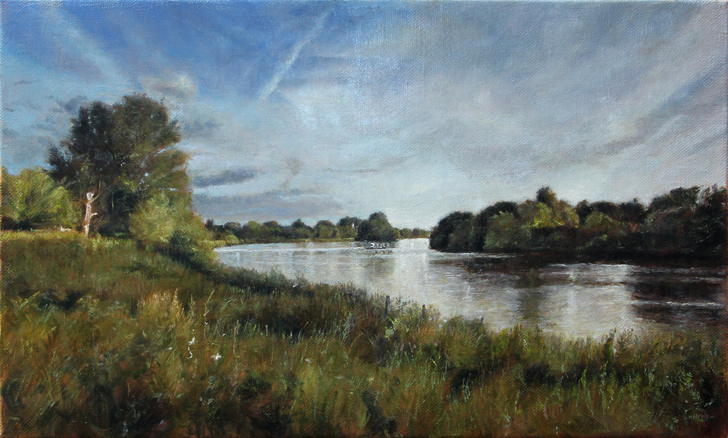 Fine Art - River Thames - Original Commissioned Oil Painting on Canvas by artist Darko Topalski