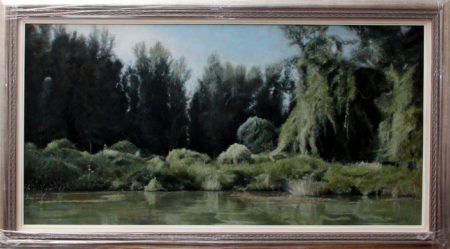 Fine Art - River Tisa - Original Landscape Oil Painting on Canvas by artist Darko Topalski