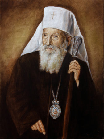 Fine Art - Patriarch Pavle - Original Portrait Oil Painting on Canvas by artist Darko Topalski