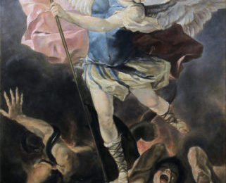 Archangel Michael after Luca fa Presto – Oil Painting