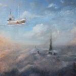 Fisherman – Symbolic Landscape Oil Painting