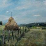 Haystack  – Landscape Oil Painting