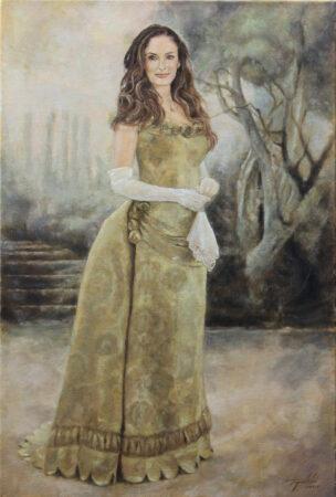 Victorian Harmony - Original Figurative Oil Painting on Canvas - by artist Darko Topalski
