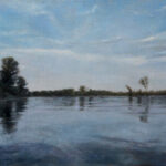 River Tisa – Landscape Oil Painting