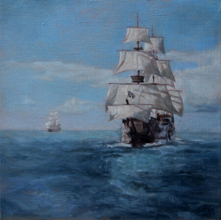 Fine Art - Sailing Ships - Original seascape Oil Painting on Canvas by artist Darko Topalski
