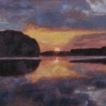 River Sunset – Landscape Oil Painting