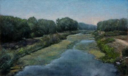 Fine Art - Kanal - Original Landscape Artwork Oil Painting on Canvas by artist Darko Topalski