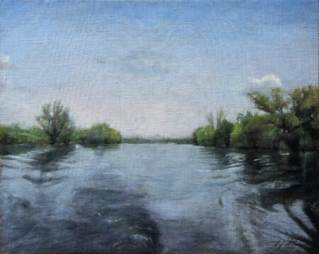 Fine Art - On the River - Original Landscape Oil Painting on Canvas by artist Darko Topalski