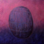 Amethyst Egg – Original XL large abstract Acrylic Painting on Canvas