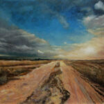 Dusty Countryside Road  – Landscape Oil Painting