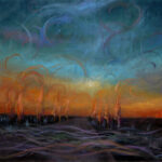 Waves of energy  – Fantastic Landscape Oil Painting