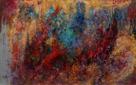 Behind the Dream - Original Fine Art fantastic landscape Oil Painting by artist Darko Topalski