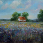 Country house in the Plain – Landscape Oil Painting