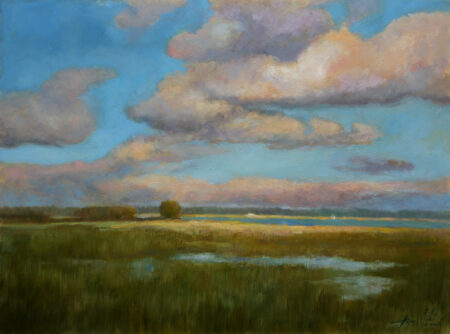 In the Plain - Original Fine Art landscape Oil Painting by artist Darko Topalski