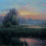 Misty Country Morning – Landscape Oil Painting