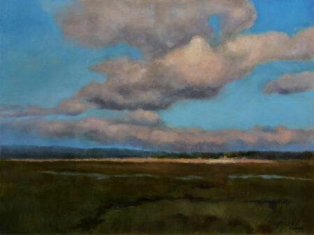 Plain Distances - Original Fine Art landscape Oil Painting by artist Darko Topalski