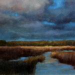 Sunspot in the Plain – Landscape Oil Painting