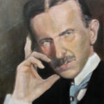 Nikola Tesla – Original Portrait Oil Painting