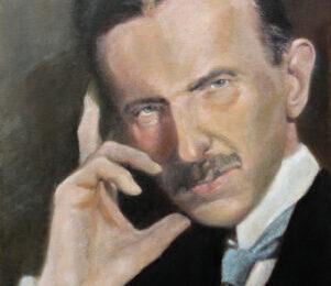 Nikola Tesla – Portrait Oil Painting
