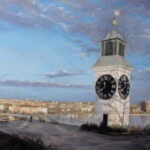Novi Sad from Petrovaradin fortress – Landscape Oil Painting