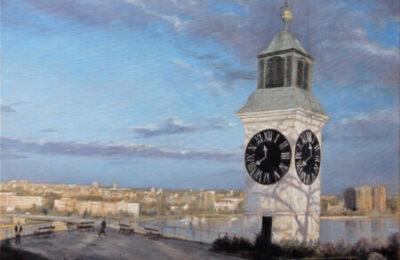 Novi Sad from Petrovaradin fortress – Landscape Oil Painting