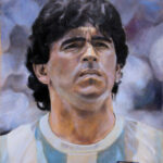 Diego Armando Maradona – Portrait Oil Painting