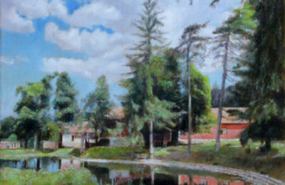 Radgost Rtanj and Lake – Landscape Oil Painting