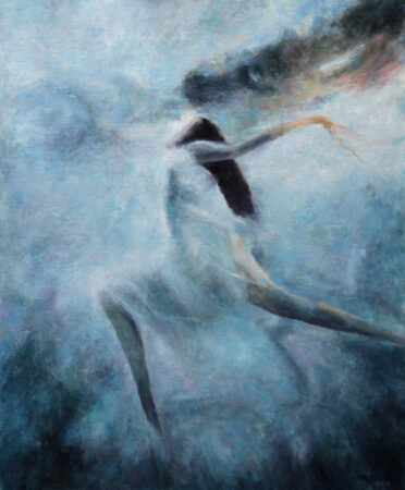 A Dream of Freedom- Original Symbolic figurative Oil Painting on Canvas - by artist Darko Topalski