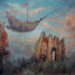 Road to Aspendos – Symbolic Landscape Oil Painting