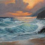 Sunset Seascape – Seaside Oil Painting